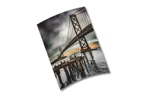 """Old Pier, Bay Bridge"" - 6x8"" Print by Bobby Lee"