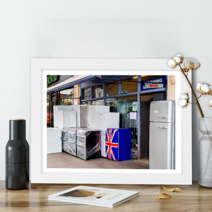 """Union Jack Fridge"" - Photographic Print by Peter Dench"