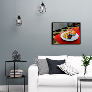 """Burger And Fries"" - Gallery Wrapped Canvas by Peter Dench"