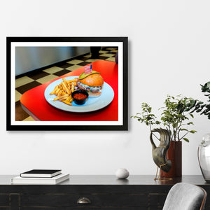 """Burger and Fries"" - Photographic Print by Peter Dench"