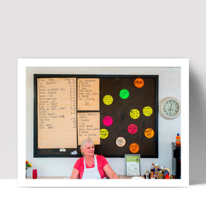 """Cafe Menu"" - Photographic Print by Peter Dench"