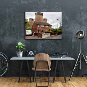 """House With Cooling Towers"" - Gallery Wrapped Canvas by Peter Dench"