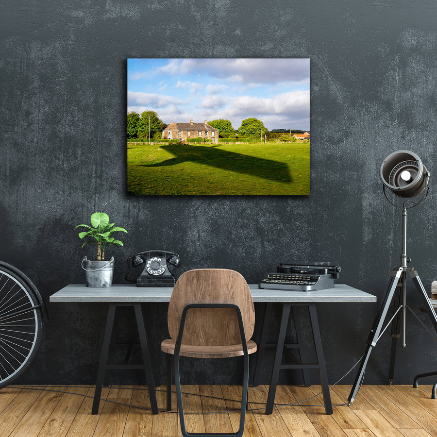 """Shadow In Field"" - Gallery Wrapped Canvas by Peter Dench"
