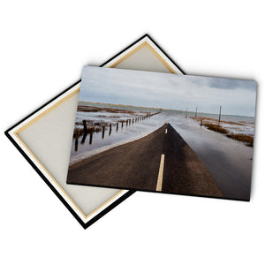 """Road Into The Sea"" - Gallery Wrapped Canvas by Peter Dench"