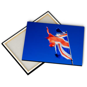 """Ripped Union Jack"" - Gallery Wrapped Canvas by Peter Dench"