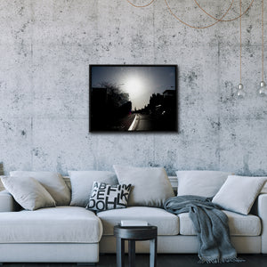 """Town Silhouette"" - Gallery Wrapped Canvas by Peter Dench"