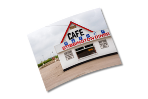 """Stibbington Diner"" - 6x8"" Print by Peter Dench"