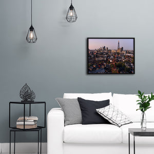 """Skyline At Dusk"" - Gallery Wrapped Canvas by Ron Timehin"