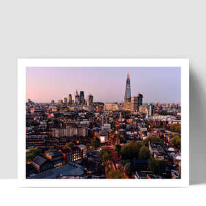 """Skyline at Dusk"" - Photographic Print by Ron Timehin"