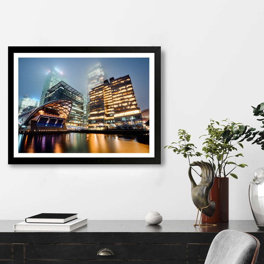 """Foggy Canary Wharf"" - Photographic Print by Ron Timehin"