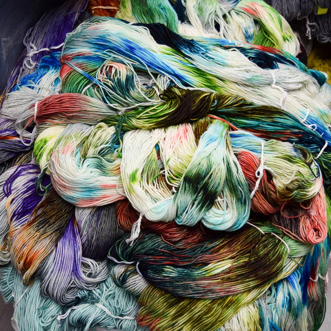 Yarn waiting to be twisted