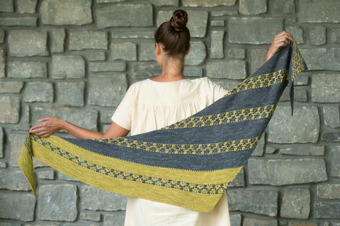 Elegant Garland shawl by Lisa Hannes