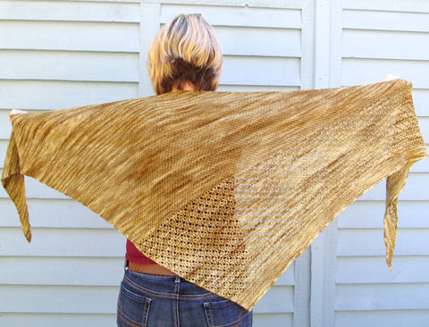 Sunwalker shawl in Hazel Eyes Katahdin