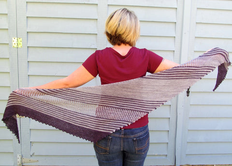Therapy shawl in Slate and Dusk Yummy 2-Ply