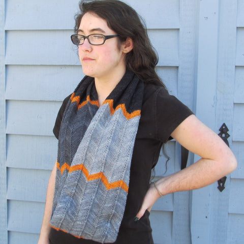 Poly Chevron Cowl by Jennifer Krause