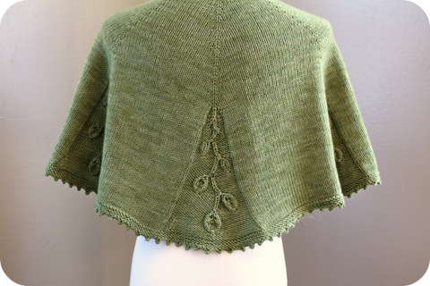 Trailing Ivy shawl