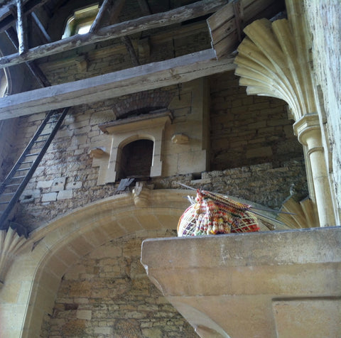 Woodchester Mansion, looking up (with sock)