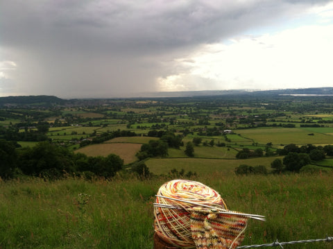 Looking out over the Cotswolds