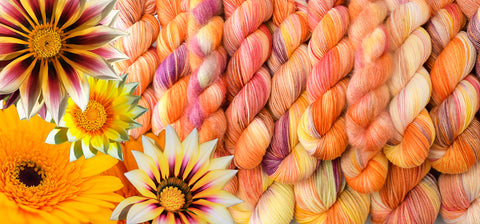 Daisies yarn together with pictures of flowers