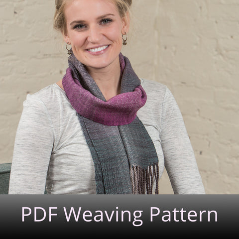 Carmen on a Winged Horse Scarf - PDF Weaving Pattern