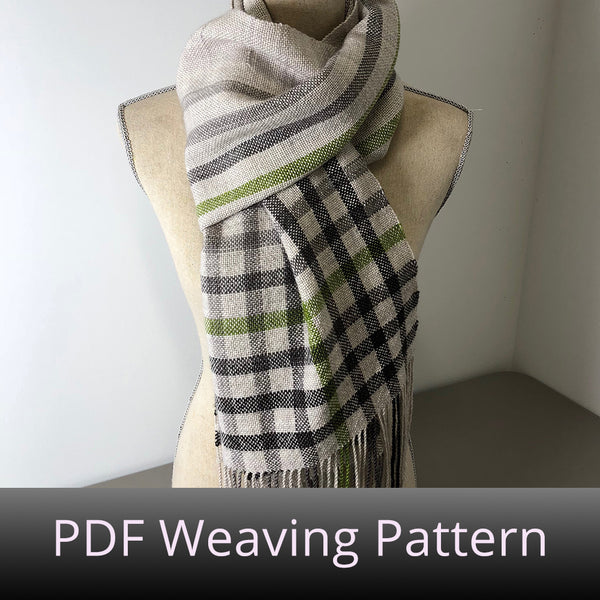 Offset Gradient Plaid - PDF Weaving Pattern