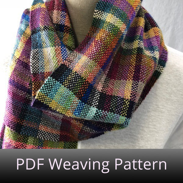 Weftovers Scarf - PDF Weaving Pattern