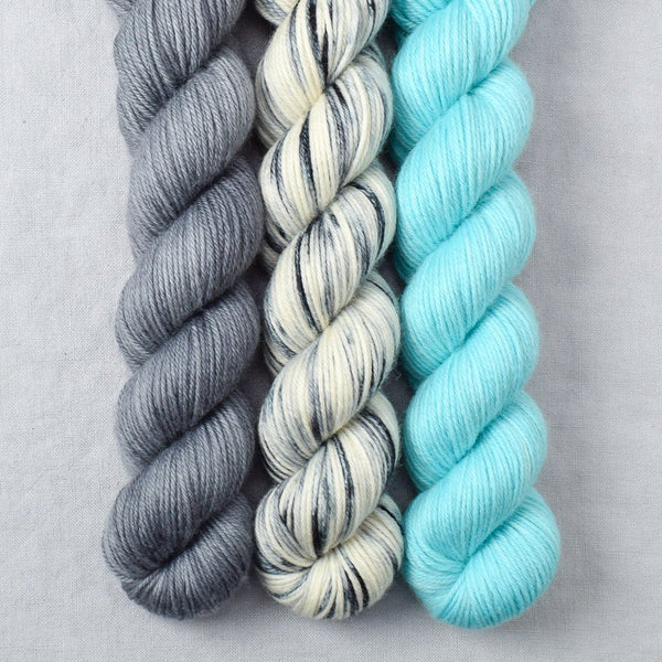 Ansel, Light Turquoise, Slate - Miss Babs Yowza Mini Trio