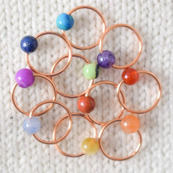 Assorted Semi-Precious Gemstone Stitch Markers - Miss Babs Stitch Markers