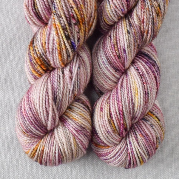 Autumn Toad Lily - SAFF 2020 - Miss Babs 2-Ply Toes yarn