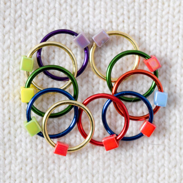 Babs' Favorite Stitch Markers - Colored Rings - Assorted -- Large - Miss Babs Stitch Markers