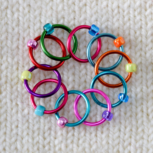 Babs' Favorite Stitch Markers - Colored Rings - Assorted
