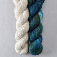 Blue Dasher, White Peppercorn - Miss Babs 2-Ply Duo