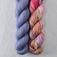 Blue Mussel, Spring Flowers - Miss Babs 2-Ply Duo