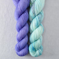 Blue Savannah, Light Clematis - Miss Babs 2-Ply Duo
