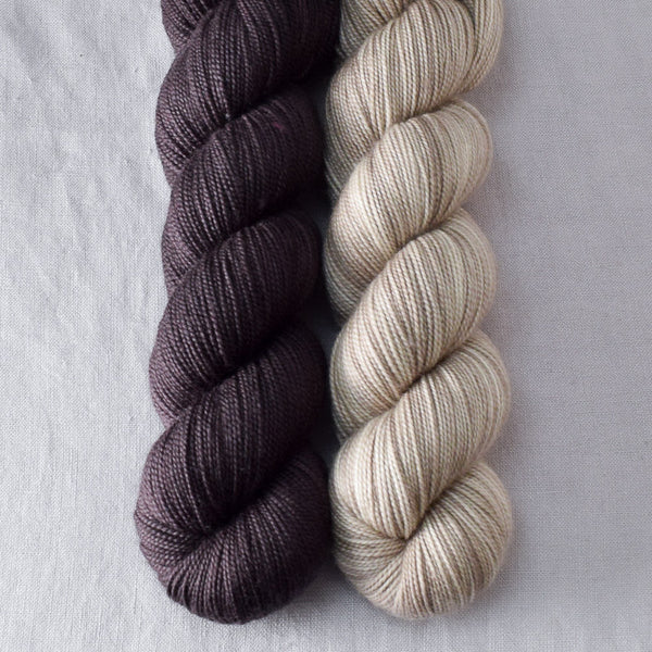 Cacao, Coastal Fog - Miss Babs 2-Ply Duo