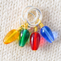 Christmas Light Stitch Markers - Miss Babs Notions