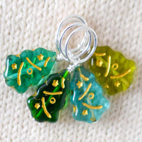 Christmas Tree Stitch Markers Version A - Miss Babs Stitch Markers