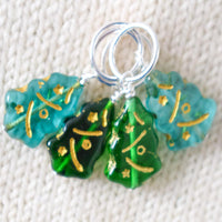 Christmas Tree Stitch Markers Version B - Miss Babs Stitch Markers