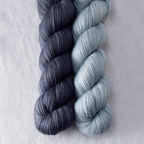 Coal, Oregon Mist - Miss Babs 2-Ply Duo