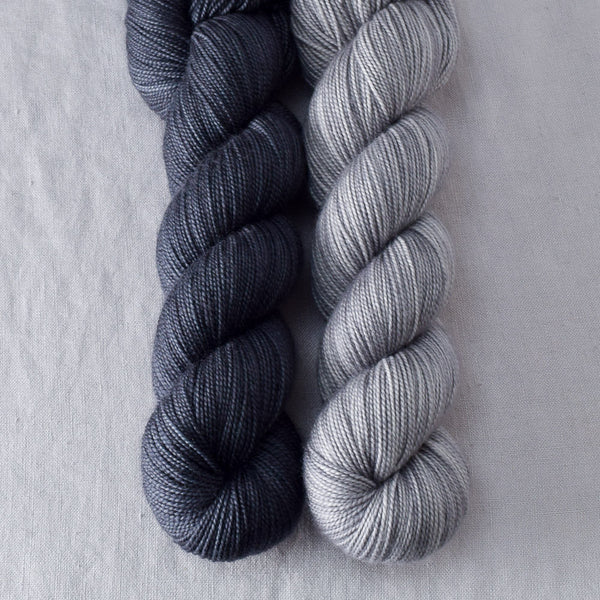 Coal, Thunderstorm - Miss Babs 2-Ply Duo
