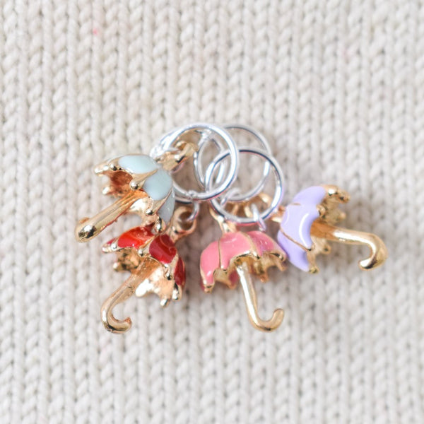 Colorful Umbrellas - Miss Babs Stitch Markers