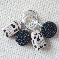Cookies and Milk Stitch Markers - Miss Babs Stitch Markers