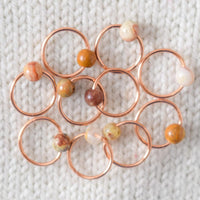 Crazy Lace Agate Stitch Markers