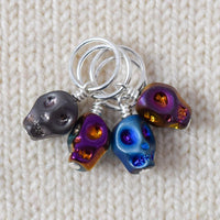 Crystal Skull Blue - Miss Babs Stitch Markers