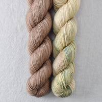 Dark Parchment, Horse Feathers - Miss Babs 2-Ply Duo
