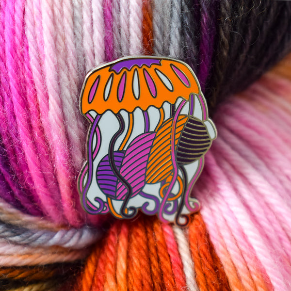 Deep Sea Jellyfish Enamel Pin - Miss Babs Notions