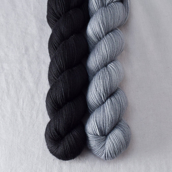 Ebony, Slate - Miss Babs 2-Ply Duo