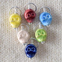 Flat Skull - Miss Babs Stitch Markers