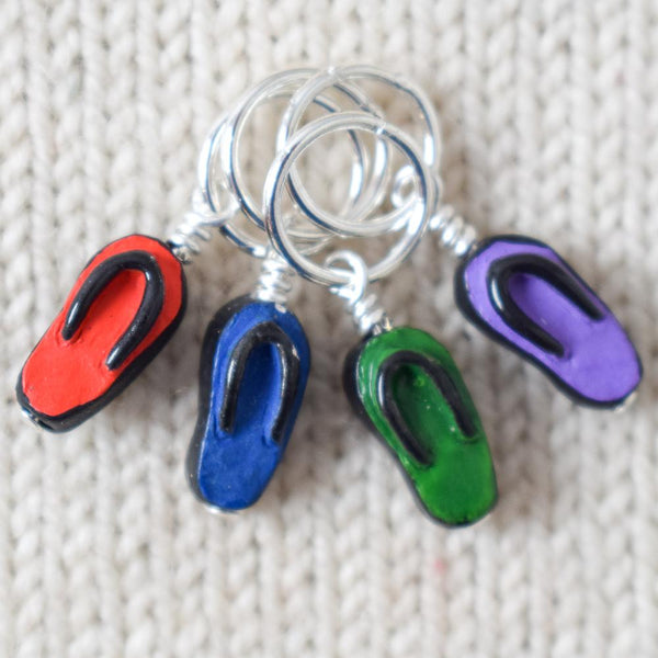 Flip Flop Stitch Markers - Miss Babs Stitch Markers