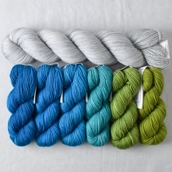 Fronds Gradient and Quicksilver Yummy 2-Ply - Miss Babs Gradient Set
